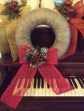 Sheep Wool Wreath with Winter decor