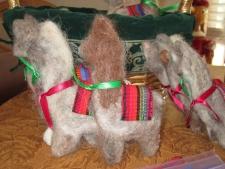 llama felted