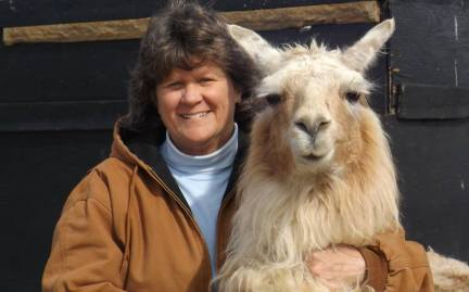 Pat and Song the llama